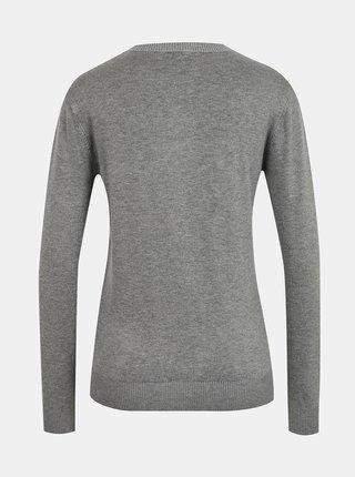 Šedý dámsky ľahký sveter s ozdobnými detailmi Guess Elvire