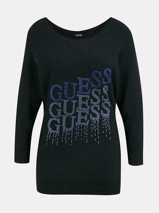 Čierny dámsky dlhý sveter Guess Claudine