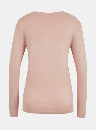 Světle růžový dámský lehký svetr Guess Doriane