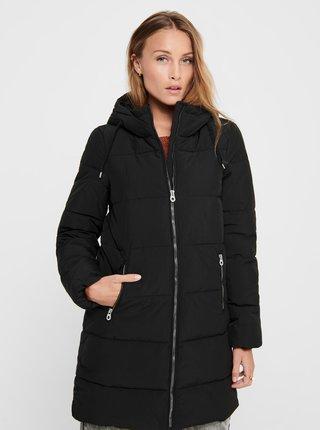 Černý zimní prošívaný kabát ONLY Dolly