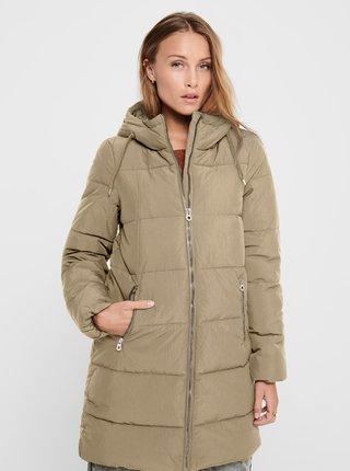 Béžový zimný prešívaný kabát ONLY Dolly