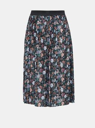 Čierna kvetovaná plisovaná sukňa Jacqueline de Yong Boa