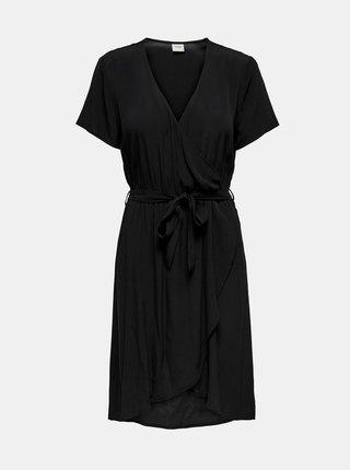 Černé zavinovací šaty Jacqueline de Yong Lea