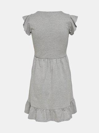 Světle šedé šaty s volány Jacqueline de Yong Ditte