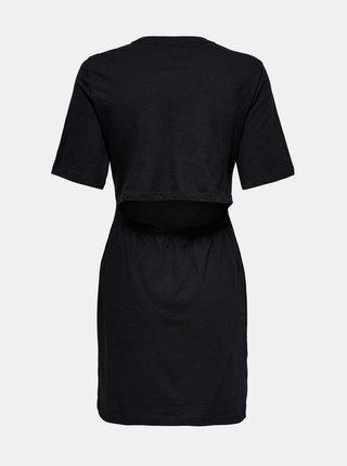 Černé šaty s průstřihem na zádech ONLY Emma