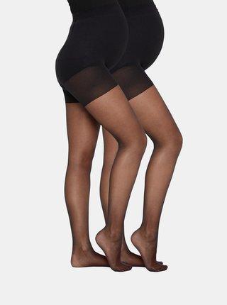 Sada dvou párů černých těhotenských punčochových kalhot Mama.licious Sabrina