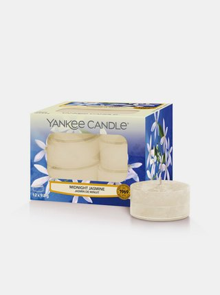 Sada vonných čajových svíček Yankee Midnight Jasmine (12 ks)