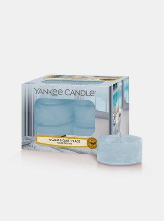 Sada vonných čajových svíček Yankee A Calm & Quiet Place (12 ks)