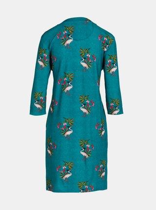 Petrolejové kvetované šaty PiP studio My Heron