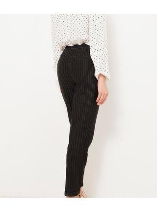 Černé pruhované kalhoty CAMAIEU