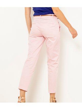 Světle růžové zkrácené kalhoty CAMAIEU