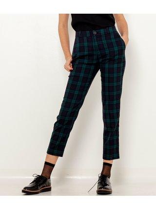 Černé kárované zkrácené kalhoty CAMAIEU