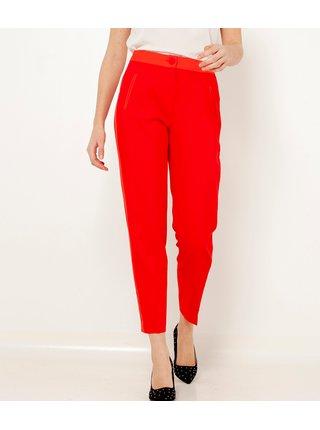 Červené zkrácené kalhoty s lampasem CAMAIEU