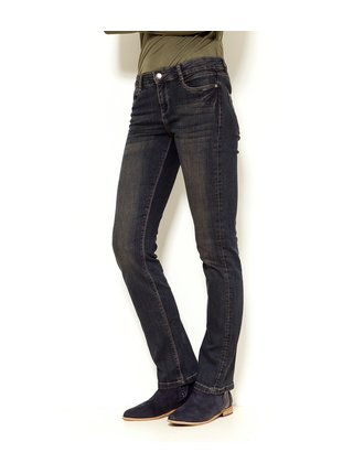 Černé straight fit džíny CAMAIEU