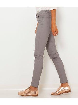 Šedé slim fit kalhoty CAMAIEU