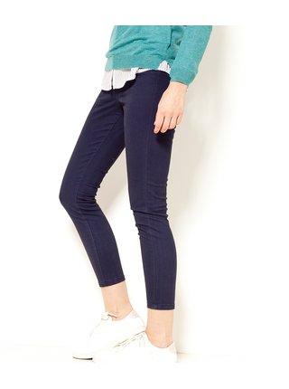 Tmavě modré zkrácené skinny fit kalhoty CAMAIEU
