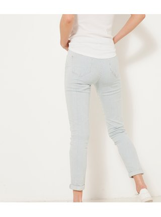 Světle modré zkrácené slim fit džíny CAMAIEU