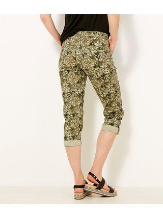 Zelené vzorované 3/4 nohavice CAMAIEU