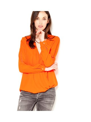 Oranžová volná halenka CAMAIEU
