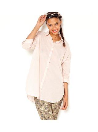 Světle růžová dlouhá košile CAMAIEU