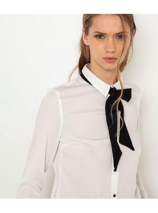 Biela košeľa s viazankou CAMAIEU