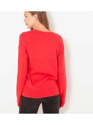 Červený svetr CAMAIEU