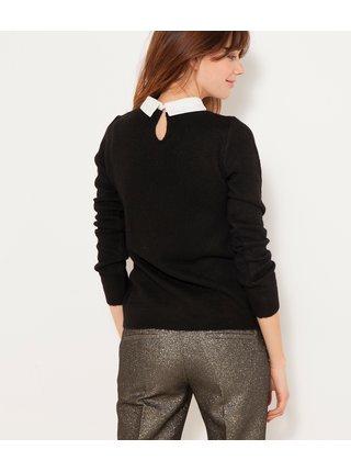 Černý lehký svetr s límečkem CAMAIEU