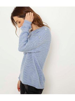Světle modrý svetr CAMAIEU