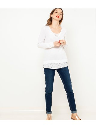 Biely sveter CAMAIEU