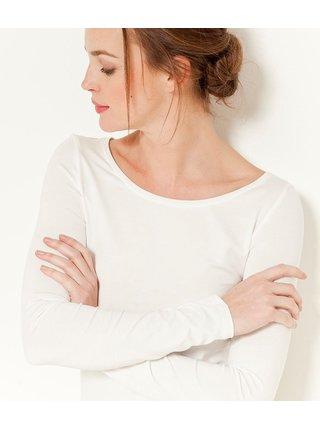Topy a tričká pre ženy CAMAIEU - biela