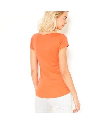 Topy a tričká pre ženy CAMAIEU - oranžová
