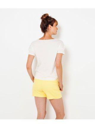 Biele kvetované tričko CAMAIEU