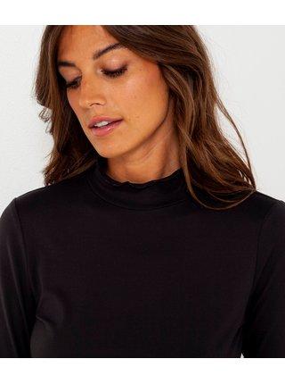 Čierne tričko so stojačikom CAMAIEU