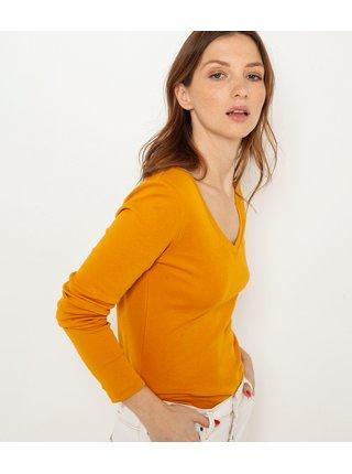 Oranžové basic tričko CAMAIEU