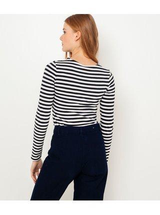 Tmavě modro-bílé proužkované tričko CAMAIEU