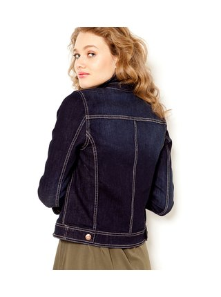 Tmavě modrá dámská džínová lehká bunda CAMAIEU