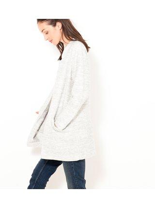 Svetlošedý dámsky ľahký kabát CAMAIEU