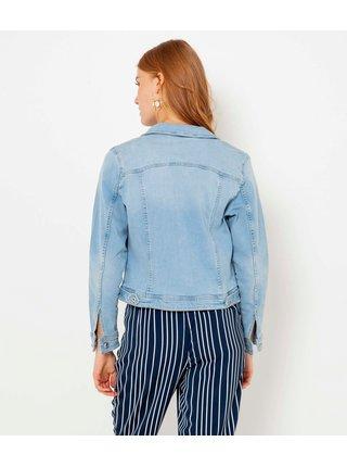Modrá rifľová dámska ľahká bunda CAMAIEU