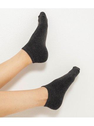 Sada tří párů ponožek v bílé, růžové a šedé barvě CAMAIEU