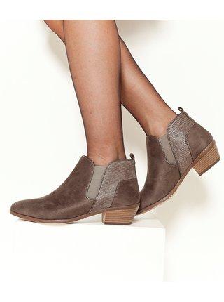 Hnědé chelsea boty CAMAIEU