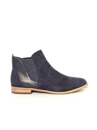 Tmavě modré chelsea boty v semišové úpravě CAMAIEU