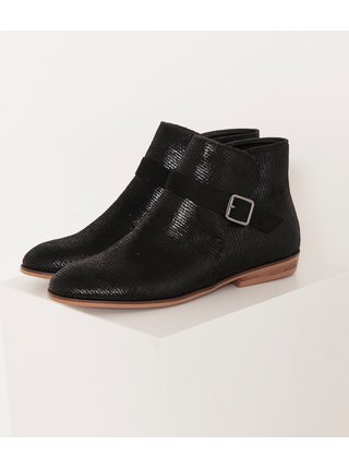 Černé kotníkové boty CAMAIEU