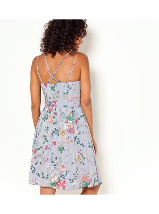 Světle modré vzorované šaty CAMAIEU