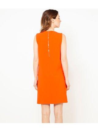 Oranžové šaty CAMAIEU