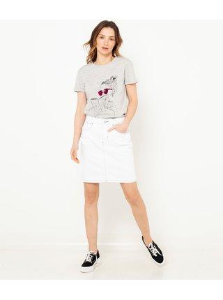 Bílá džínová sukně CAMAIEU