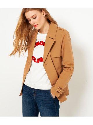 Trenčkoty a ľahké kabáty pre ženy CAMAIEU - hnedá