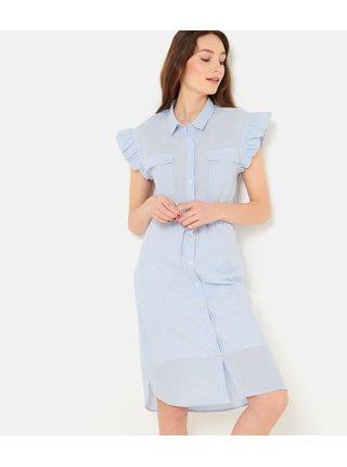 Světle modré košilové šaty CAMAIEU