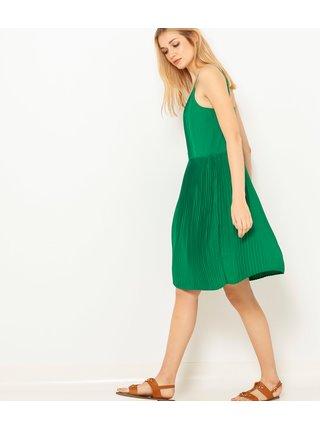 Zelené plisované šaty CAMAIEU