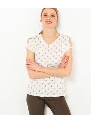 Bílé puntíkované tričko CAMAIEU