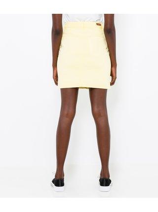 Žlutá džínová sukně CAMAIEU